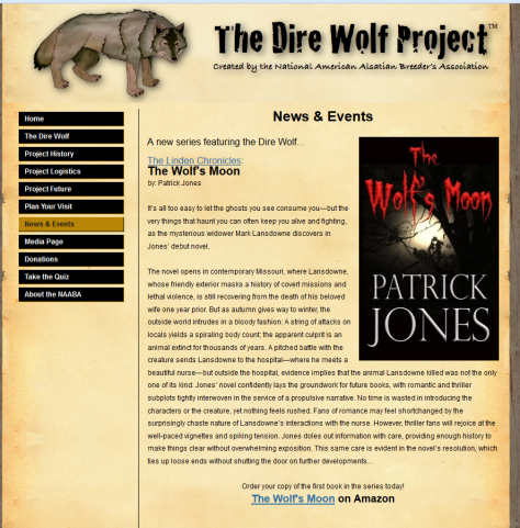 Featured on The Dire Wolf Project