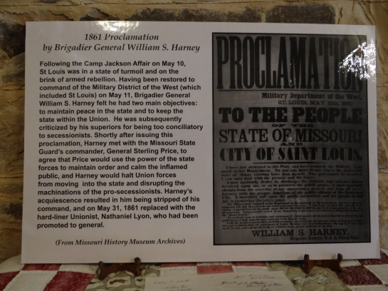 1861 Proclamation by Brigadier General William S. Harney