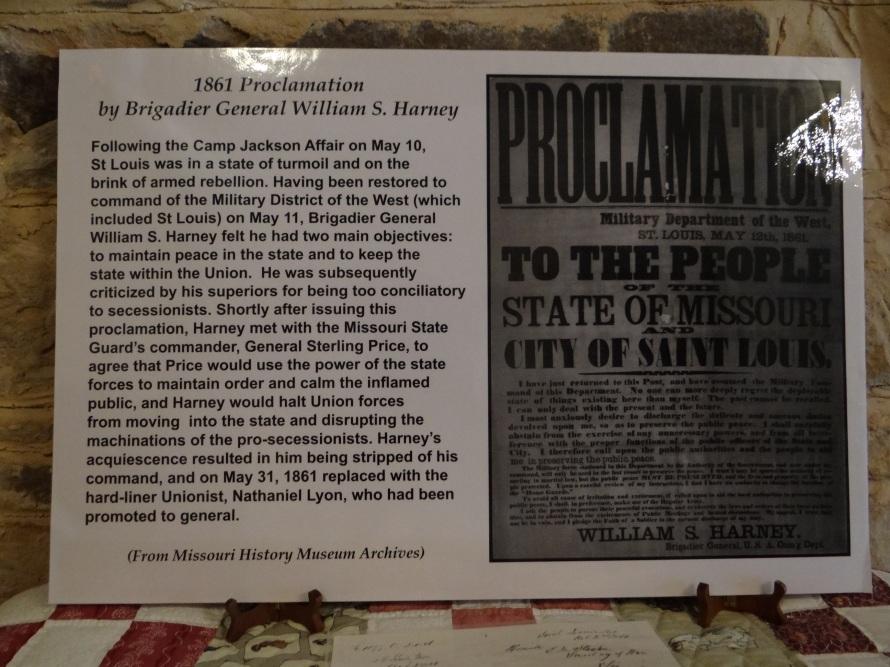1861 Proclamation by Brigadier General William S. Harney