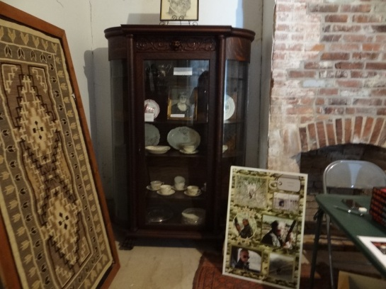 Old China Cabinet at The Harney Mansion Booksigning for The Wolf's Moon