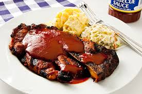 Pork Steaks with Maull's Barbeque Sauce